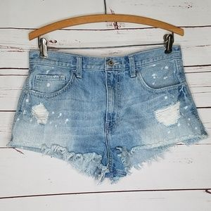 Hollister distressed cut off shorts